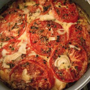tomatoes, cheese, garlic