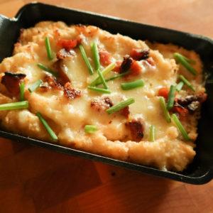Cauliflower and Bacon Mash